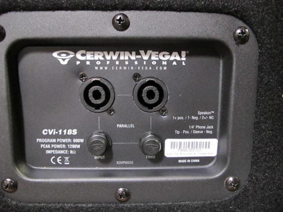Cerwin Vega CVi-118S Subwoofer de dispersión directa y 18