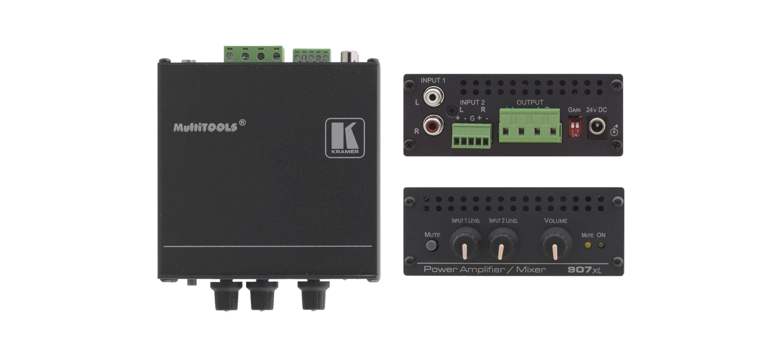 Amplificador de potencia estéreo/mezclador 40w por canal-907xl