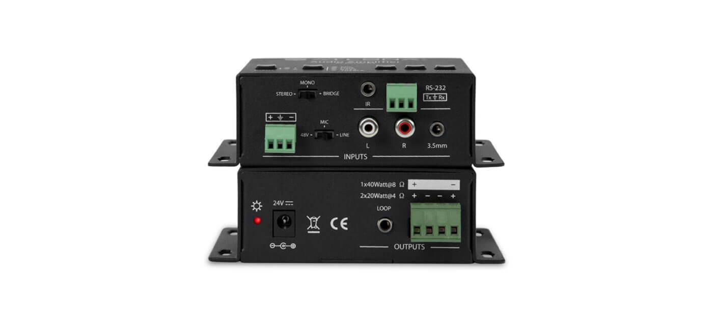 Amplificador de audio estéreo / mono, 1 canal 40w, pieza.-At-Pa100-G2