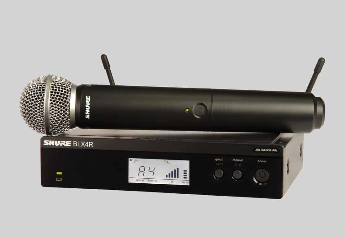 Sistema inalámbrico con microfono de mano capsula sm58-Blx24r/sm58