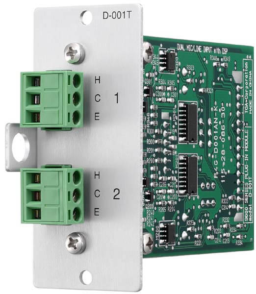 Módulo de entrada de micrófono / línea dual con dsp-D-001t