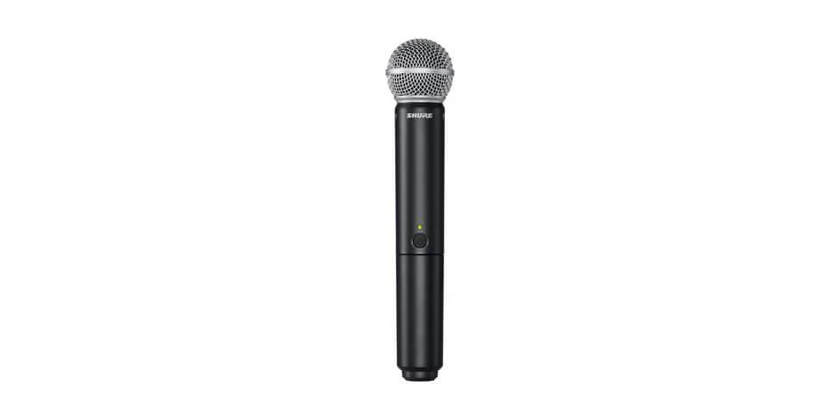 Shure BLX2/SM58 Micrófono transmisor inalambrico de mano con capsula integrada ms58.