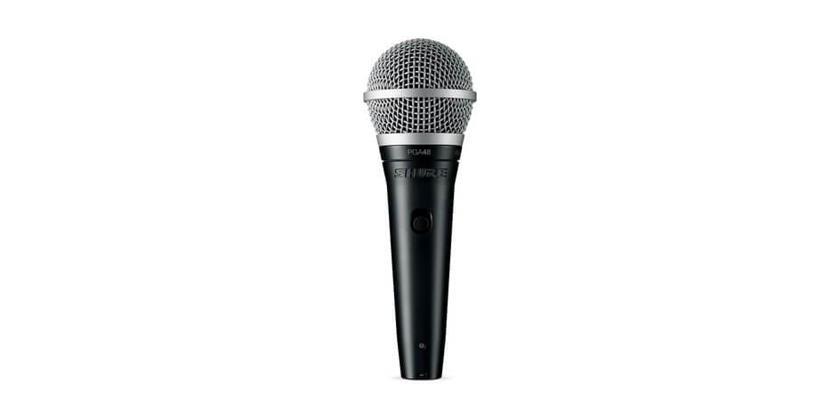 Micrófono vocal dinámico cardioide para aplicaciones vocales y vocales. xlr-Xlr cable.-Pga48-Xlr