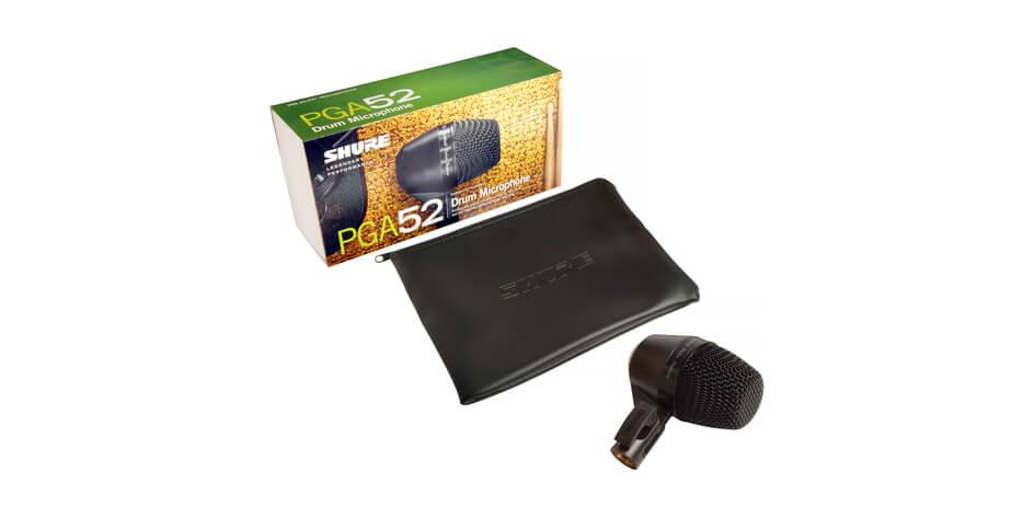Shure PGA52-XLR Micrófono dinámico dinámico de giro dinámico cardioide. xlr-Xlr cable.