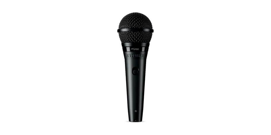 Micrófono vocal dinámico cardioide para el desempeño vocal de plomo y refuerzo. cable xlr-Qtr.-Pga58-Qtr
