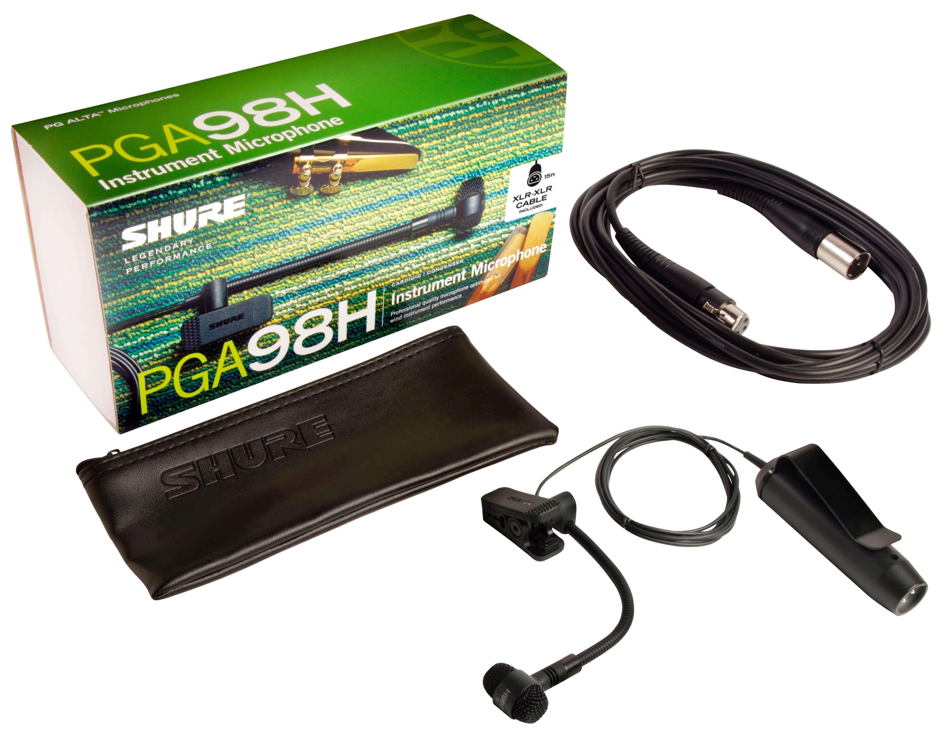 Shure PGA98H-XLR Microfono condensador cardioide para instrumento