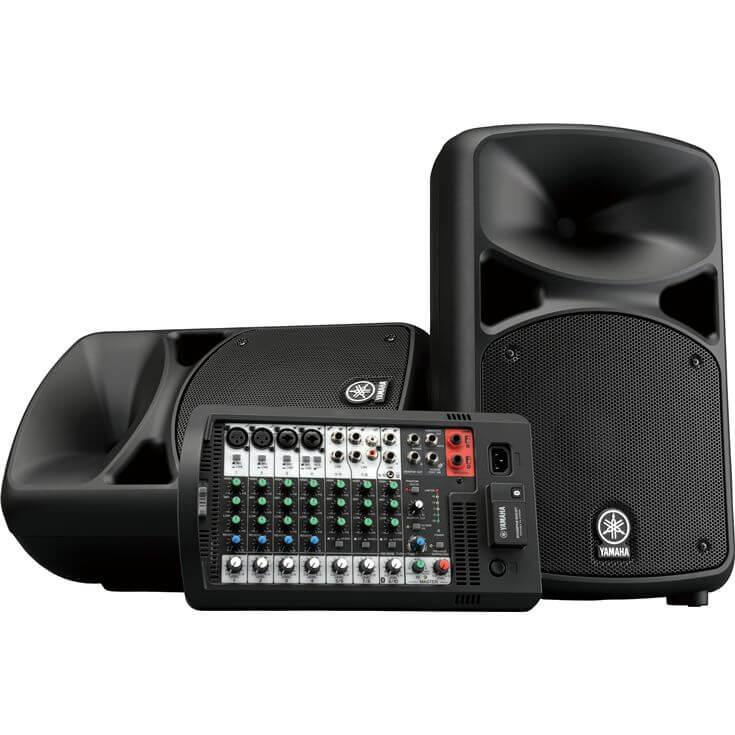 Sistema de pa portátil de 680 w con mezclador autoamplificado de 10 canales-Stgps600bt-Set