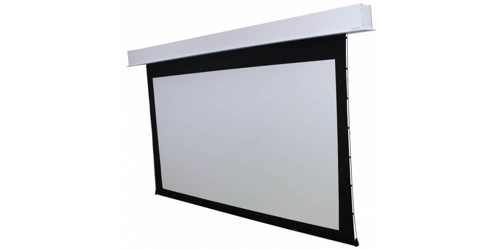 "Pantalla Electrica sobre Techo 135"" (16:9), 1676mm x 2997mm, Color Blanco 12"" de BD"