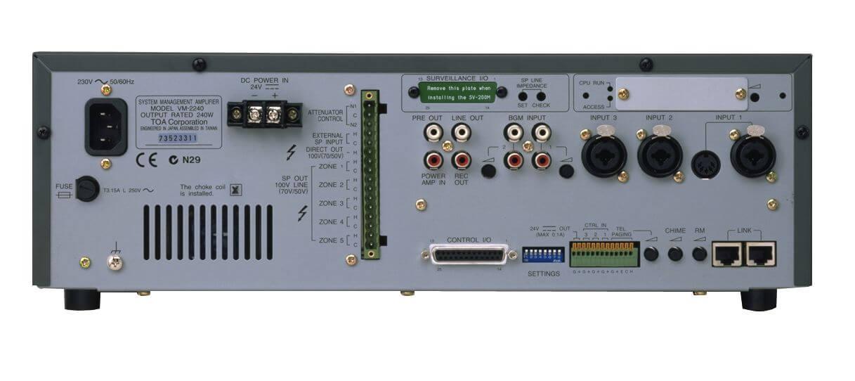 TOa vm-2240 amplificador de gestión del sistema-Vm-2240