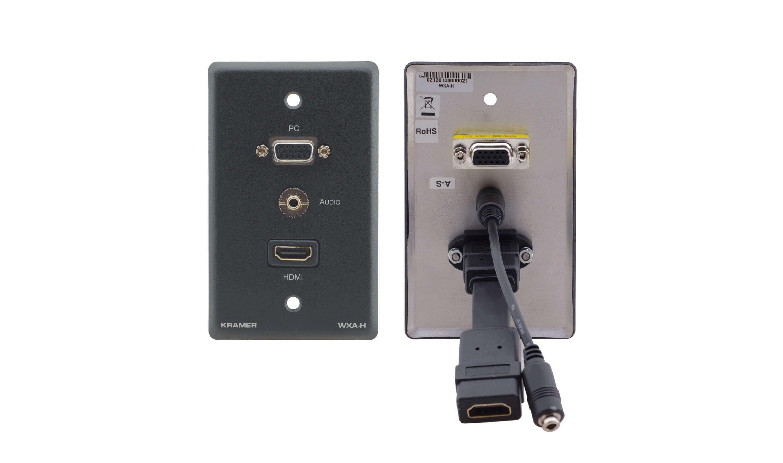 Kramer Wxa H Placa De Pared Con Vga 15 Pin Hd 3 5mm Audio