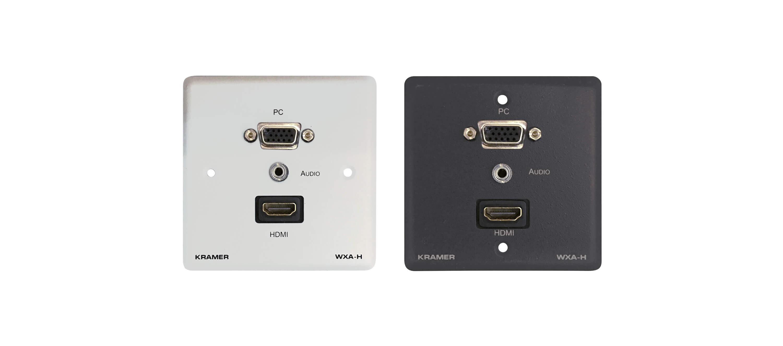 Kramer wxa h placa de pared con vga 15 pin hd audio for Placas para pared