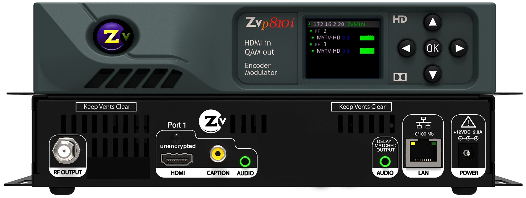 ZvPro 810 HD,Video distribuidor QAM sobre modulador Coaxial 1080 p