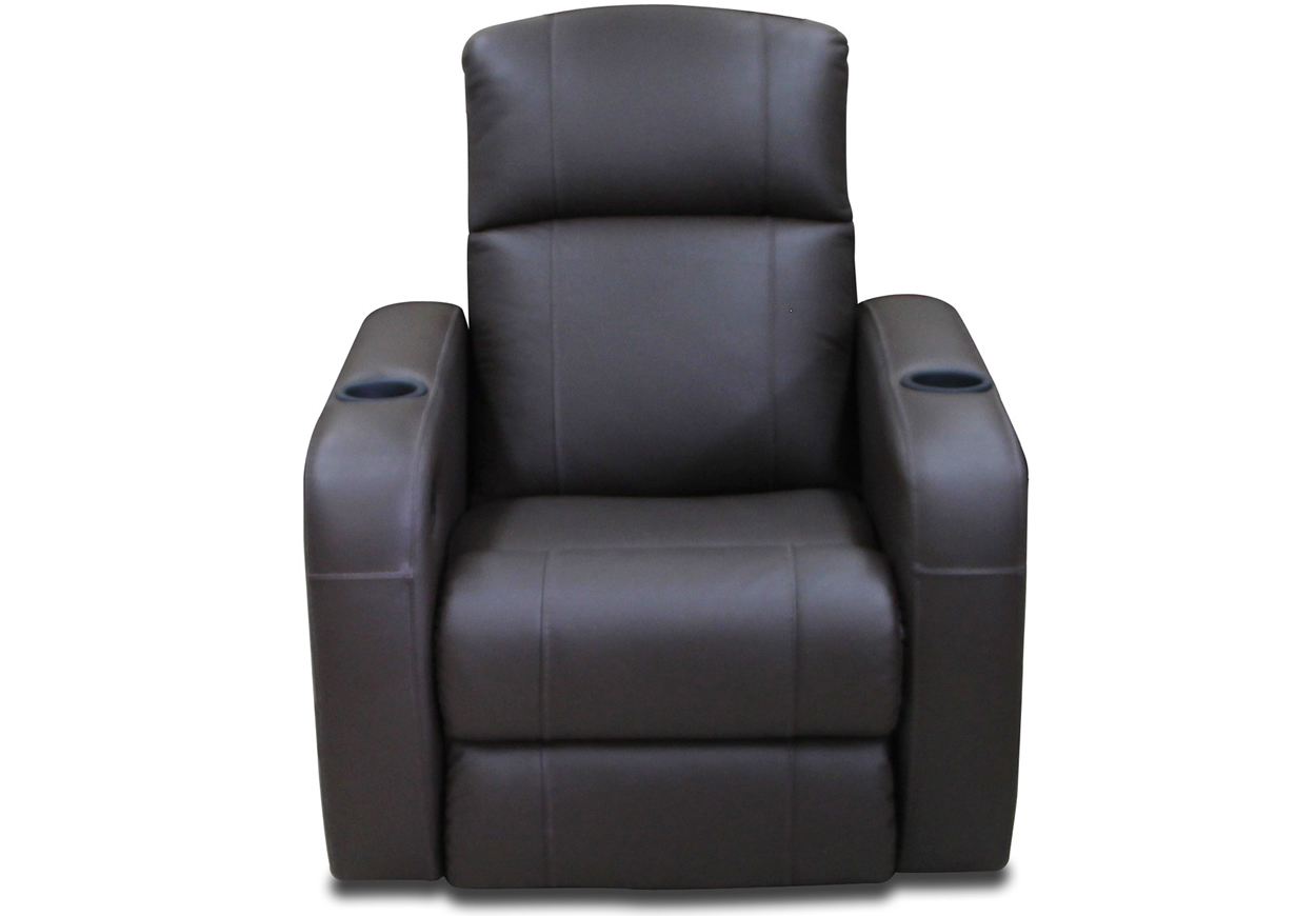 Comfortto 1mlpb sillon reclinable motorizado de piel for Sillon reclinable