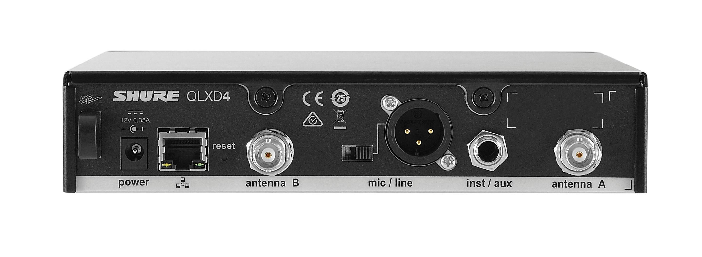 Shure QLXD4 Receptor inalámbrico digital con ksm9.