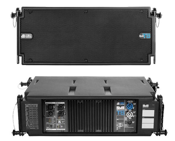 DB TECHNOLOGIES DVA-T8 Gabinete para sistema lineal  woofer de  8Pulg.,  medio de 1x6.5pulgadas y 2 agudos de 1 pulgada, pieza