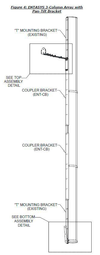 Community ENT-PT Herraje para montaje a pared  con inclinación vertical, color negro o blanco x pz