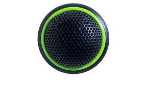 Micrófono de semi esfera bidirecional con anillo luminoso verde c/enc.-Mx395b/bi-Led