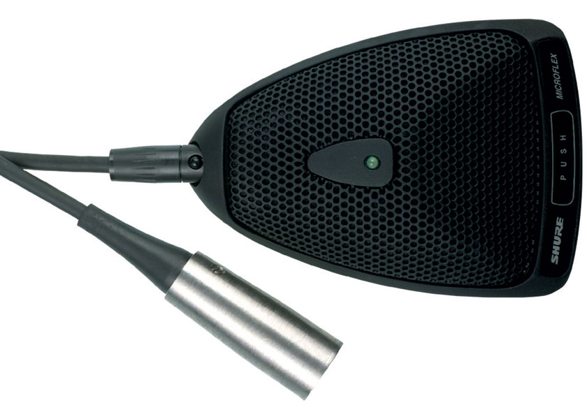 Shure MX393/C Microfono de superfi con cable desprendible3.7m