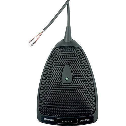 Shure MX392/C Micro de superficie, con cable fijo de 3.7 mts sin conector de salida, terminales lógicas, apagador de membrana, negro.