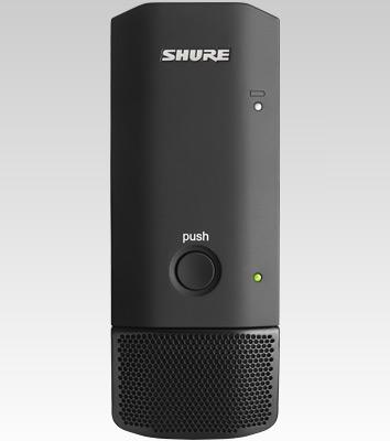 Shure MXW6/O Micrófono plano de superficie transmisor inalámbrico, con cápsula cardioide  ó con cápsula omnidirecciona,( incluye una batería sb901)