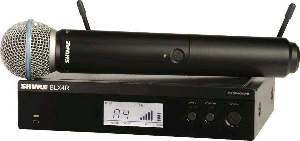 Sistema inalámbrico con micrófono de mano capsula beta 58-Blx24r/b58