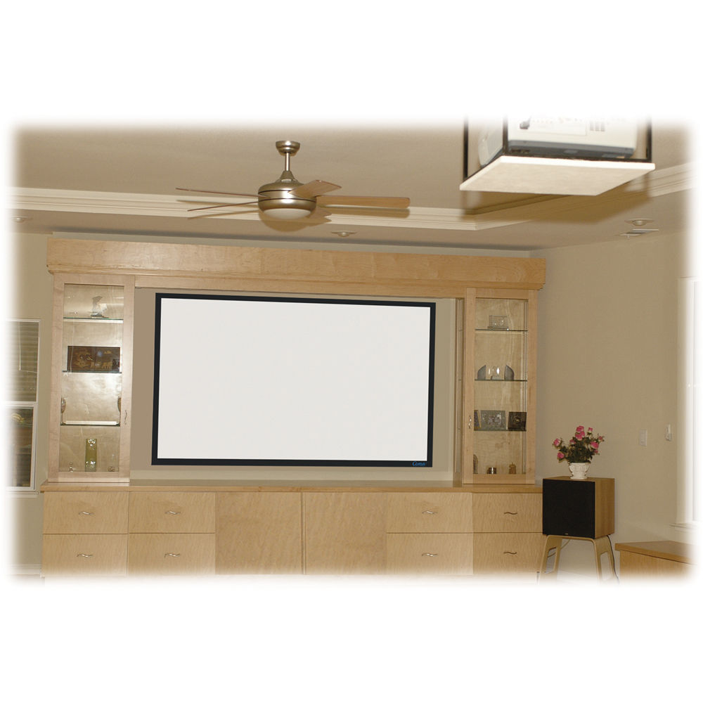 "Pantalla de Pared Fija 115"" (2.35:1), Medida: 1143mm x 2687mm, Color Blanco, CINEMASCOPE"