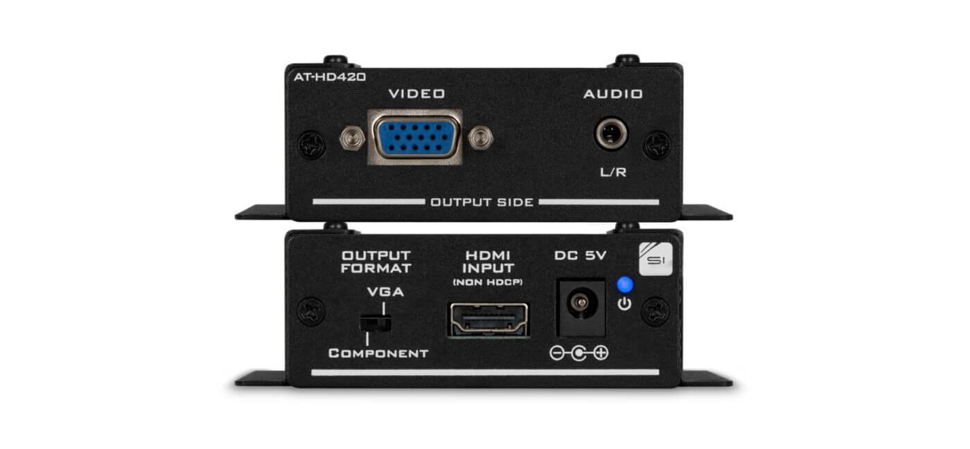 Convertidor De Hdmi A Vga Y Convertidor De Formato Audio Estereo