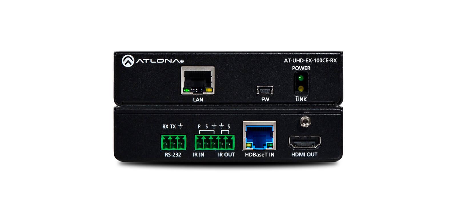 Receptor De Audio Hdmi 4k Con Ethernet, Control Y Poe