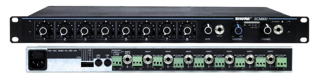 Panel De Conexioniado Para Scm810,scm800 Entradas Y Salidas Xlr, Entradas Y Salidas Auxiliares